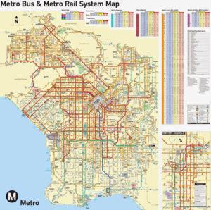 ロサンゼルス バス 乗り方 メトロ マップ
