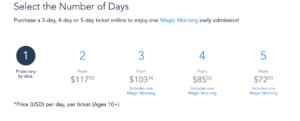 カリフォルニア ディズニー チケット 価格